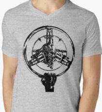 Mad Max Wheel Stencil Design Men's V-Neck T-Shirt