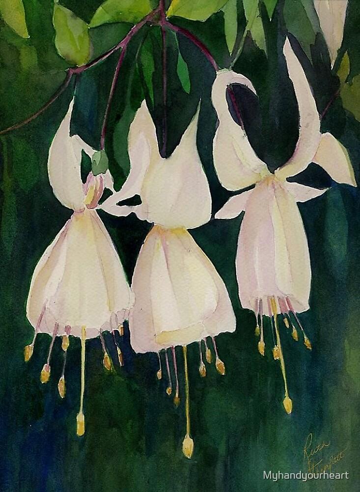 White Fuschias (Sleigh Bells) by Myhandyourheart