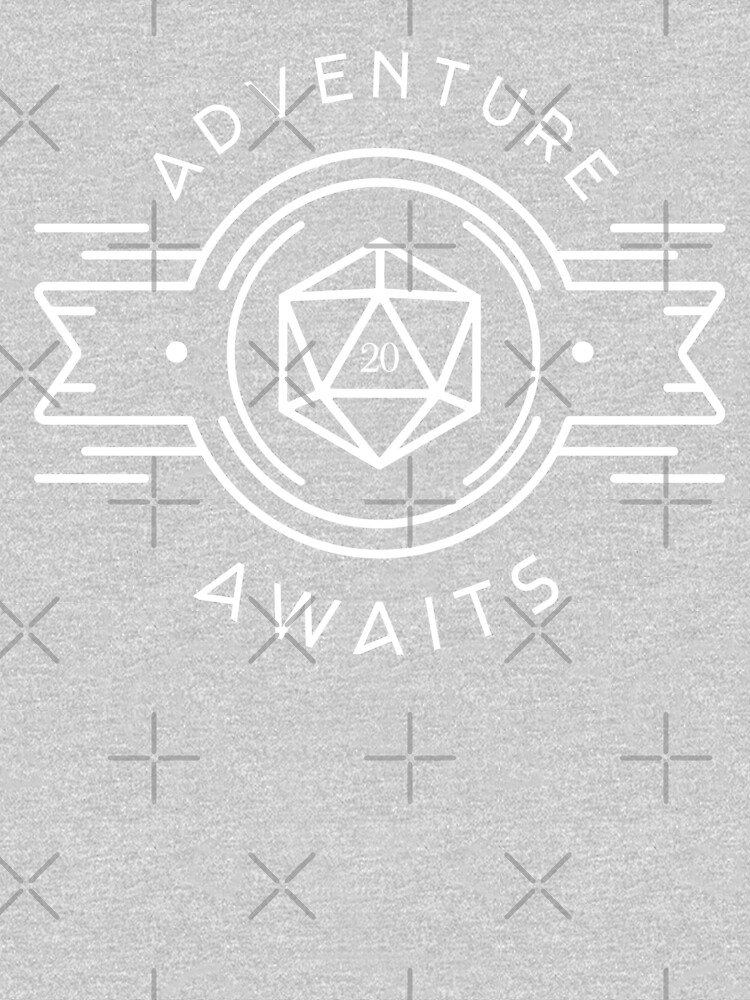Adventure Awaits Polyhedral D20 Dice Tabletop RPG Addict by pixeptional