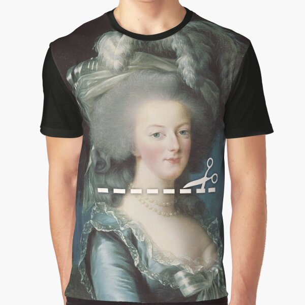 Cut Here - Marie Antoinette Graphic T-Shirt