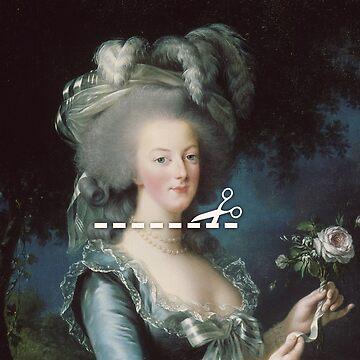 Cut Here - Marie Antoinette by KatieBuggDesign