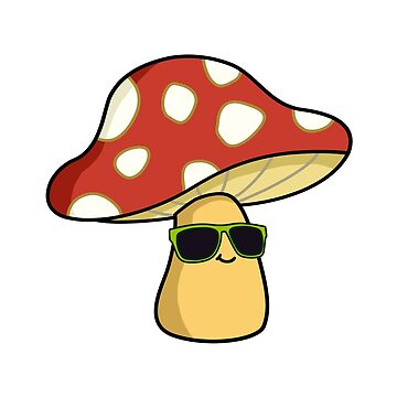 Cool Mushroom by StickersAndStuff
