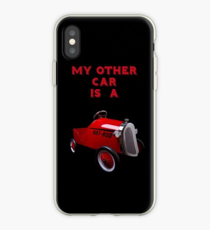 My Other Car Is A Hot Rod (on black) - iPhone Case iPhone Case