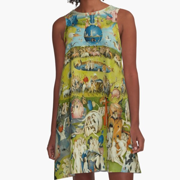 Garden of Earthly Delights (Ecclesia's Paradise) A-Line Dress
