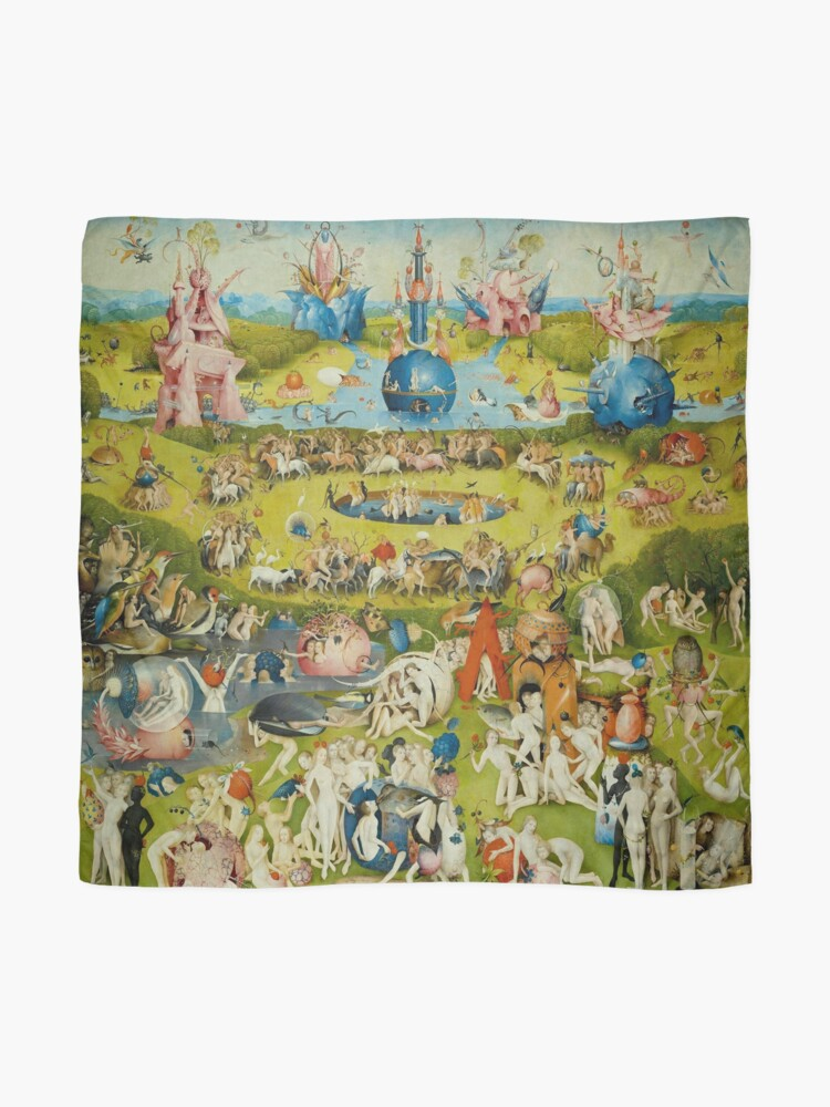 Alternate view of Garden of Earthly Delights (Ecclesia's Paradise) Scarf
