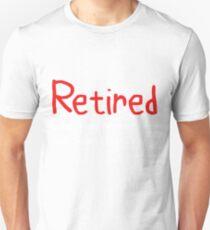 Camiseta ajustada Retirado bajo nueva administración Vea cónyuge para obtener detalles Idea de regalo Regalo divertido de jubilación