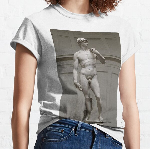 David by Michelangelo #David #Michelangelo #DavidbyMichelangelo #masterpiece Renaissance sculpture Classic T-Shirt