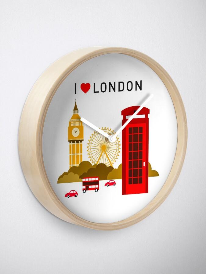 Alternative Ansicht von Ich liebe London Uhr