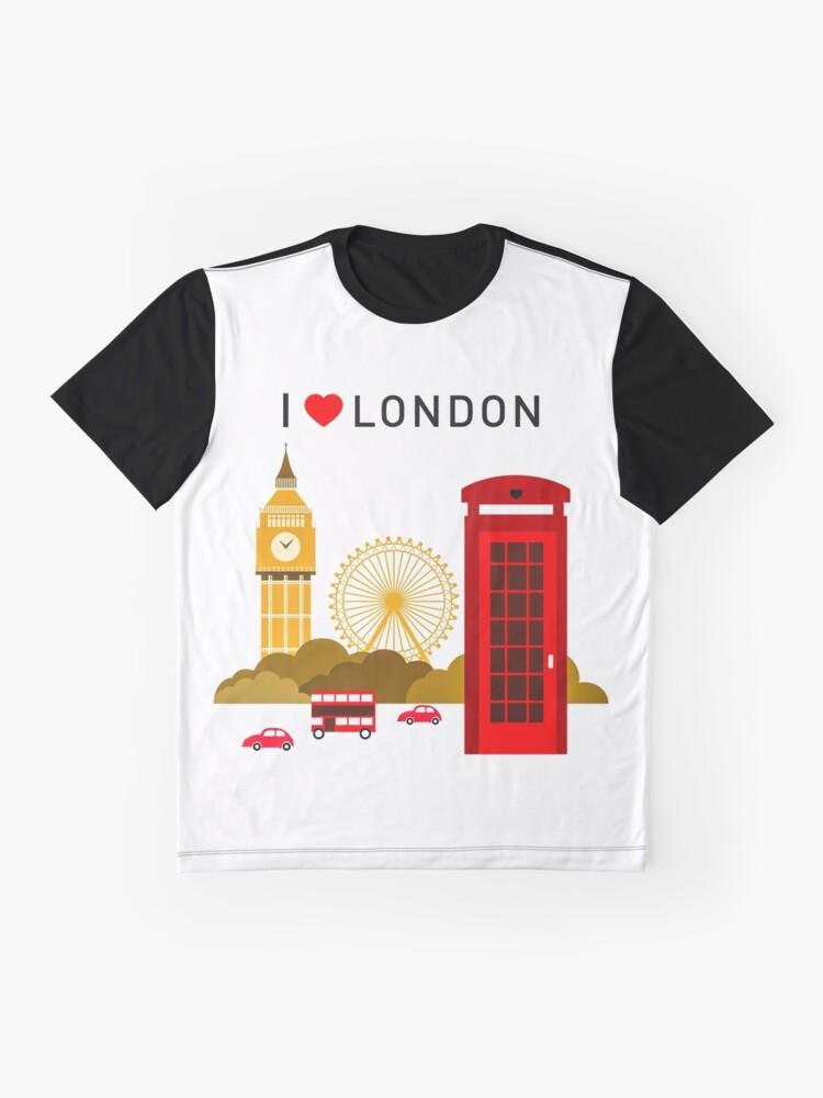 Alternative Ansicht von Ich liebe London Grafik T-Shirt