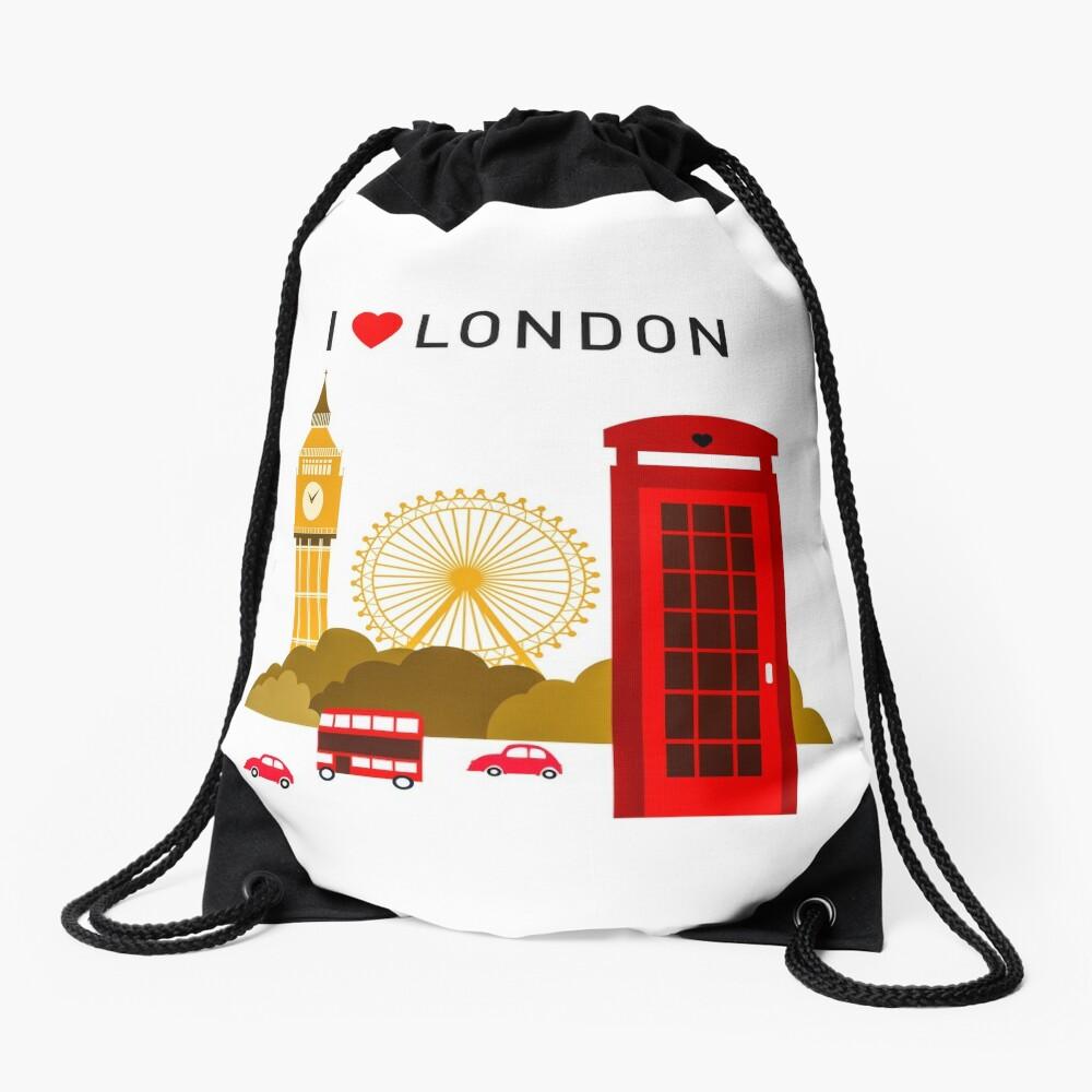 Ich liebe London Turnbeutel
