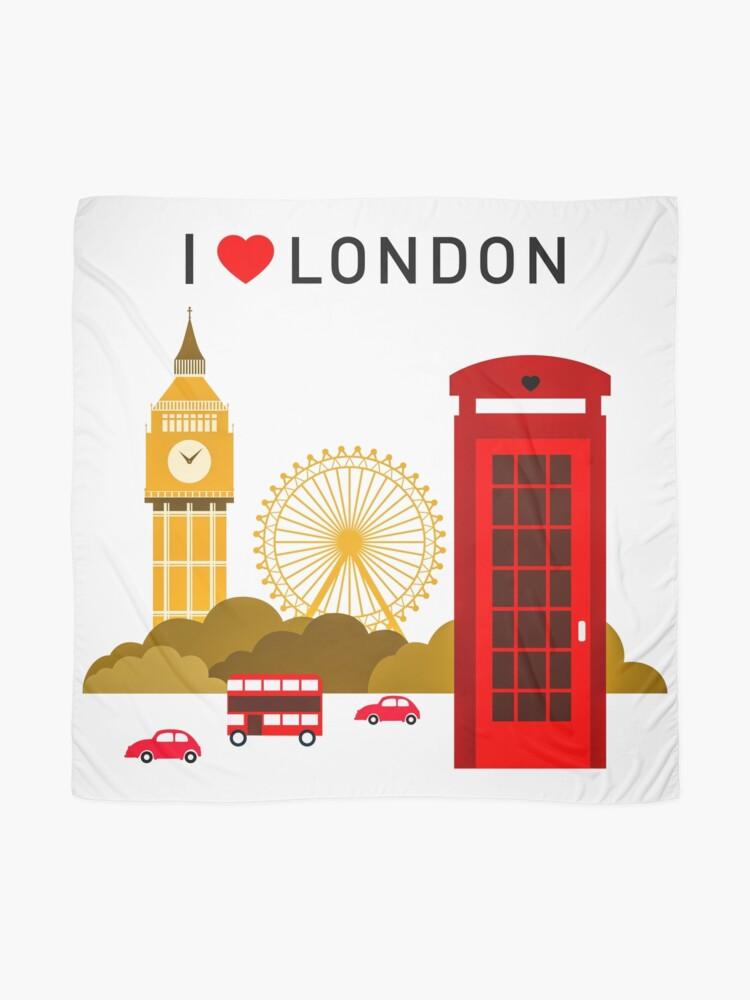 Alternative Ansicht von Ich liebe London Tuch
