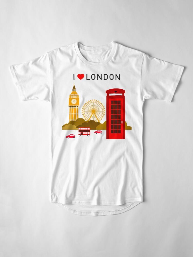 Alternative Ansicht von Ich liebe London Longshirt
