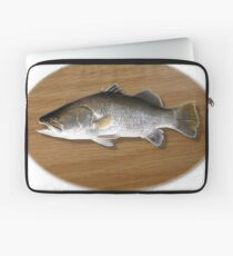 Digitally generated image of a mounted fish trophy on a wooden plaque  Laptop Sleeve