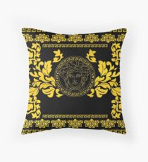 Gold Medusa Floor Pillow