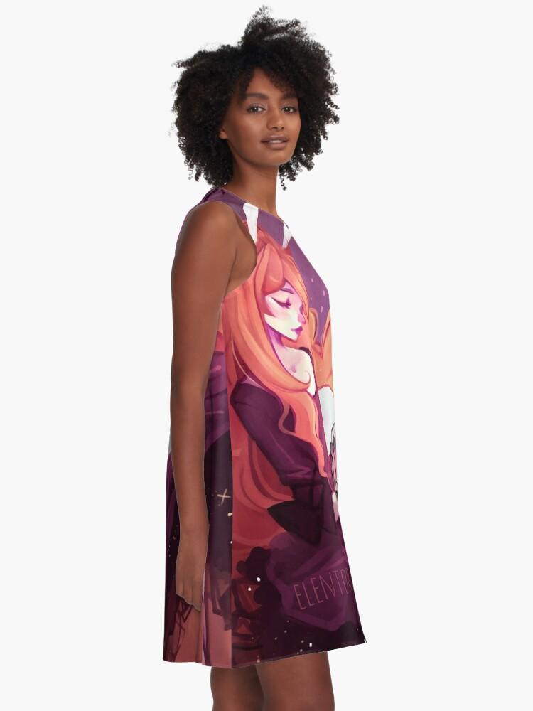 Alternative Ansicht von Alena A-Linien Kleid
