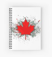 Canada Maple Leaf Spiral Notebook