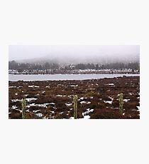 Snow on the lake 3 Photographic Print