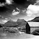Boathouse at Dove Lake, Tasmania by Elana Bailey