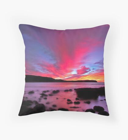 Moody Clouds Throw Pillow