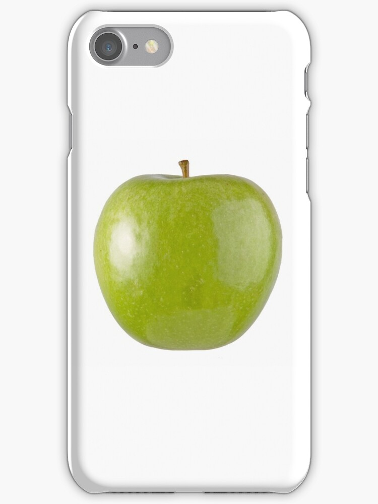 Granny Smith Apple (on white) for the Apple iPhone Cover! by Bryan Freeman