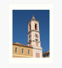 Nizza - Clock Tower of the Rusca Palace Art Print