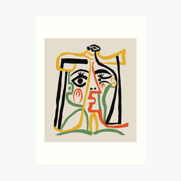 Picasso - Cabeza de mujer n. ° 1 Lámina artística