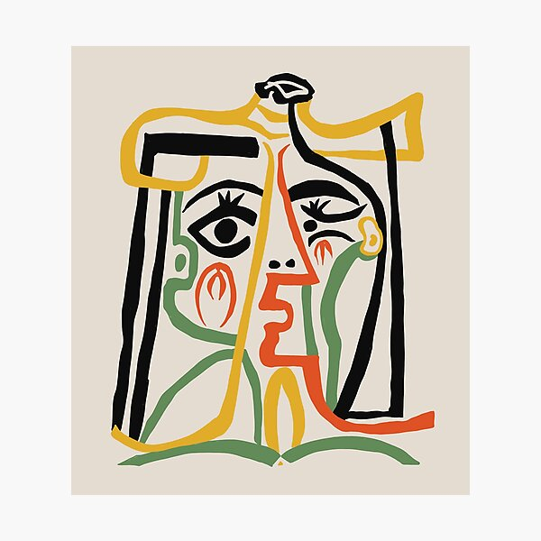 Picasso - Woman's head #1 Photographic Print