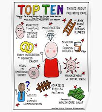 Top Ten Things About Palliative Care Poster