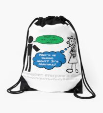 How do you see the world?  Drawstring Bag