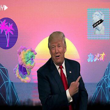Trump Vaporwave  by thecosbykids