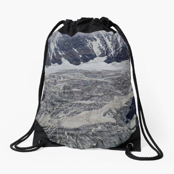 The Pasterze glacier in the Alps in Austria. Drawstring Bag