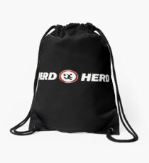 Chuck Bartowsky Nerd Herd logo Drawstring Bag