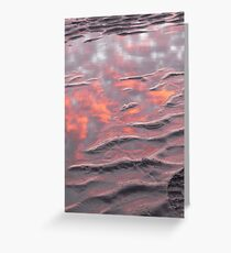 Reflective sand ripples Greeting Card