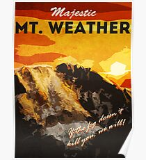 The 100 - Vintage Travel Poster (Mt. Weather) Poster
