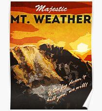 Póster El 100 - Vintage Travel Poster (Mt. Tiempo)