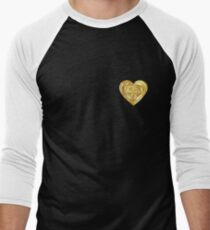 Gold Heart  Men's Baseball ¾ T-Shirt