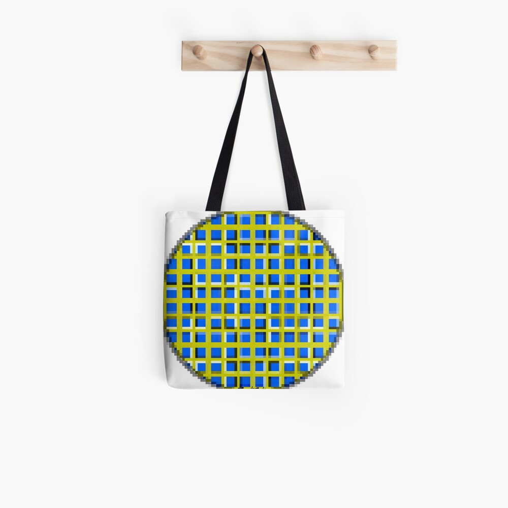 Blue Dot Square 2 by RootCat Tote Bag