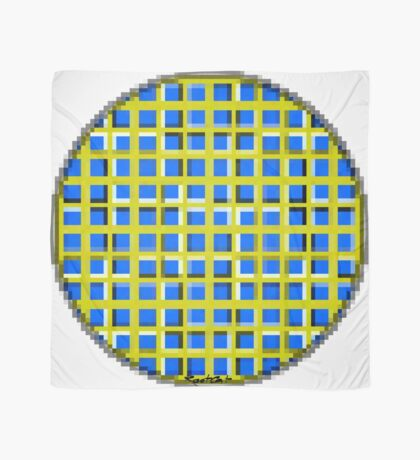 Blue Dot Square 2 by RootCat Scarf
