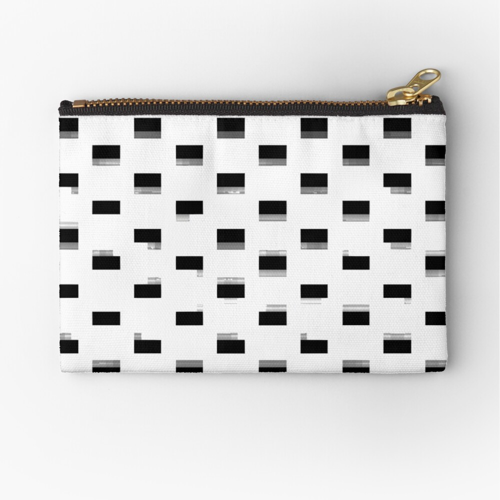 Black Dot Square by RootCat Zipper Pouch