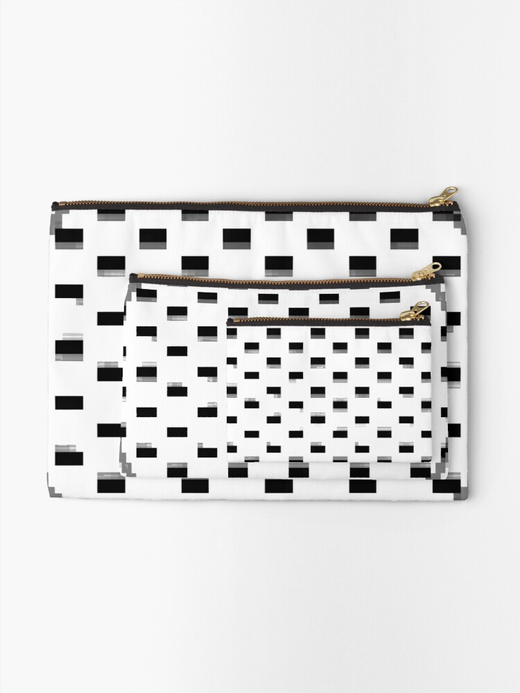 Alternate view of Black Dot Square by RootCat Zipper Pouch