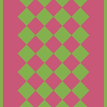 Green and Rose Pink Geometric by STHogan