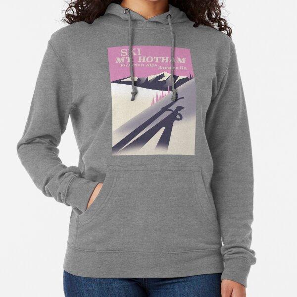 Mt. Hotham Victoria Alps Ski poster Lightweight Hoodie