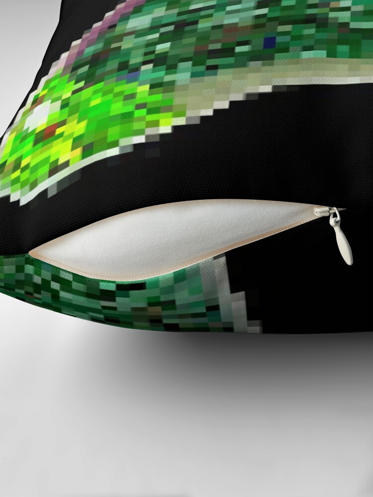 Alternate view of Green RootCat's Unicorn II Throw Pillow