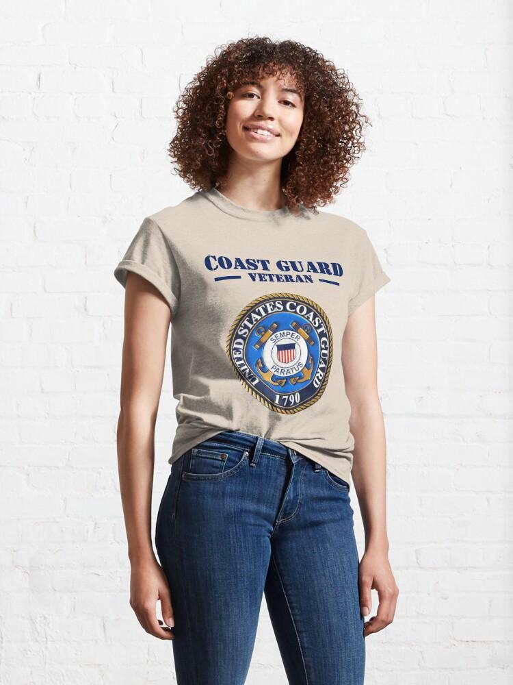 Alternate view of Coast Guard Veteran Design by MbrancoDesigns Classic T-Shirt