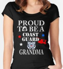 Proud To Be A CG Grandma Design by MbrancoDesigns Women's Fitted Scoop T-Shirt