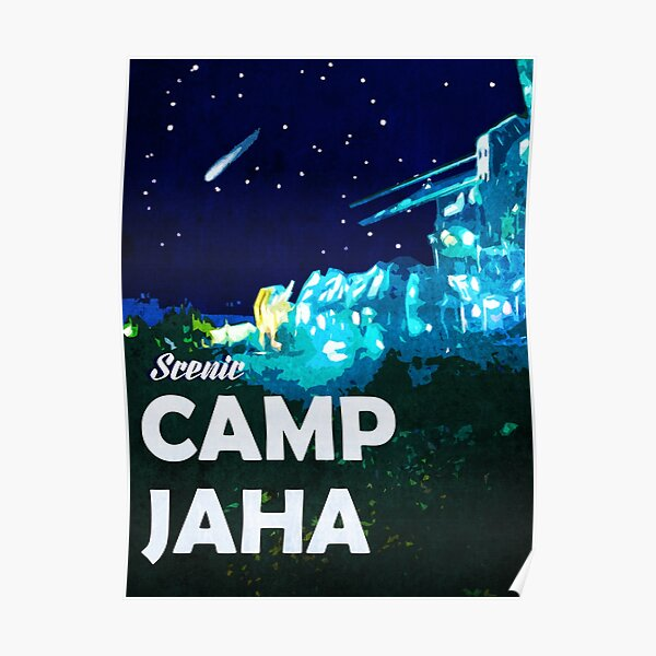 The 100 - Vintage Travel Poster (Camp Jaha) Poster