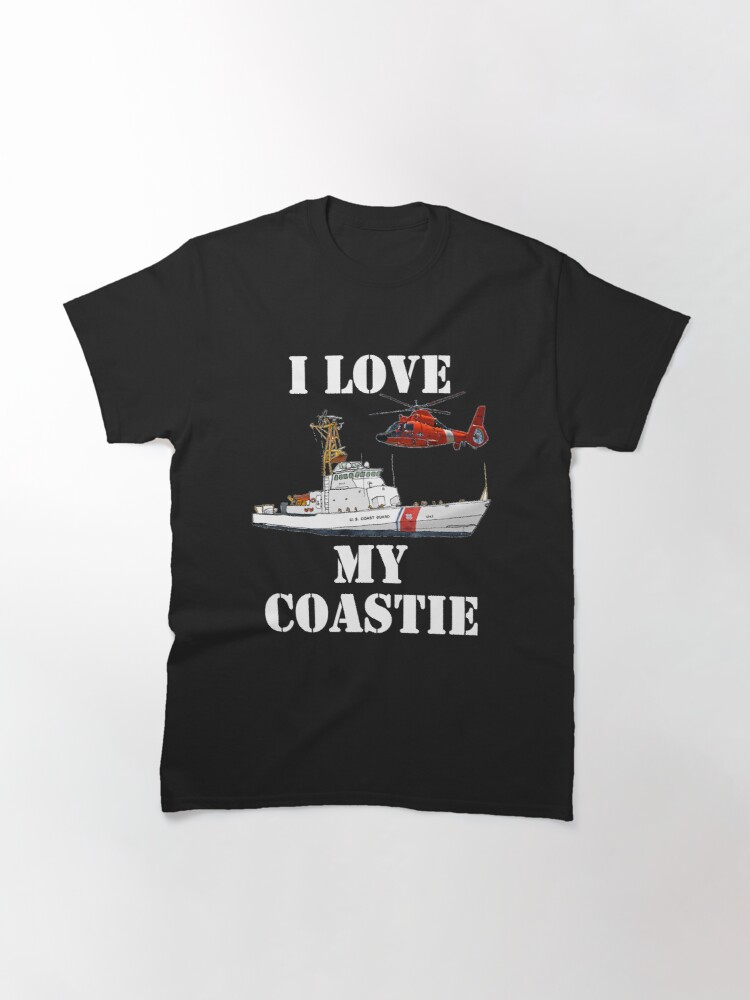Alternate view of I Love My Coastie Design by MbrancoDesigns Classic T-Shirt
