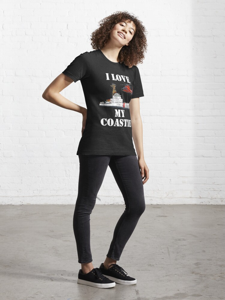 Alternate view of I Love My Coastie Design by MbrancoDesigns Essential T-Shirt