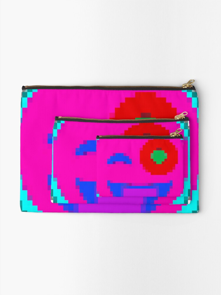 Alternate view of Sticky Emojii 10 by RootCat Zipper Pouch