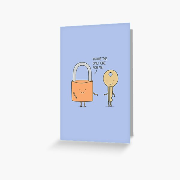 Lock and key Greeting Card